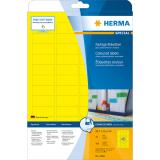 HERMA Universaletikett SPECIAL 45,7x21,2 mm 1.200 Etiketten gelb