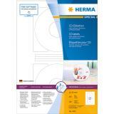 HERMA CD/DVD Etikett weiß, 116 mm, mit Positionierhilfe, Großpackung