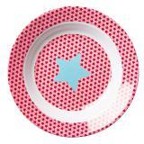 Rice tiefer Kinderteller Sterne Ø 20 cm rosa