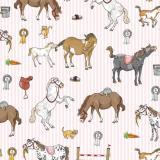 krima & isa Geschenkpapier Motiv Ponys