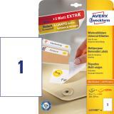 Avery Zweckform Universaletikett weiß, ablösbar, 210 x 297 mm, Vorteilspack + 5 Blatt gratis