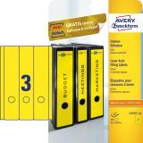 Avery Zweckform Ordnerrückenetikett breit/lang gelb
