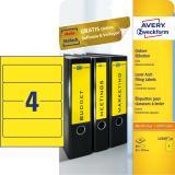 Avery Zweckform Ordnerrückenetikett breit/kurz 80 St./Pck. gelb
