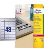 Avery Zweckform Typenschildetikett silber, 45,7 x 21,2 mm