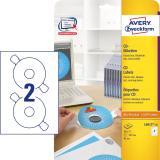 Avery Zweckform CD/DVD Etikett weiß, 117mm, matt, mit Zentrierhilfe