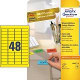 Avery Zweckform Universaletikett 45,7 x 21,2 mm, ablösbar gelb