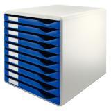 Leitz Schubladenbox 10 Schubfächer blau