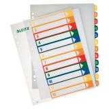 Leitz Zahlenregister 1-12 farbige Taben