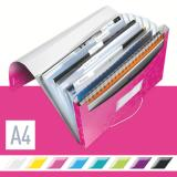 Leitz Projektmappe WOW metallic 6 Fächer pink, metallic