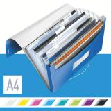 Leitz Projektmappe WOW metallic 6 Fächer blau, metallic