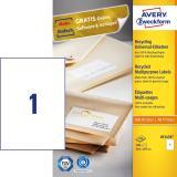 Avery Zweckform Universaletikett Recycling, naturweiß, 100 St.