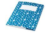 minouki Heftumschlag aus Recyclingpapier gemustert dunkelblau