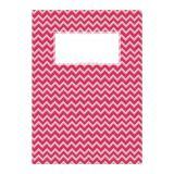 minouki Heftumschlag aus Recyclingpapier gemustert rot