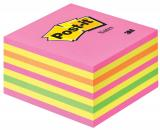 Post-it® Haftnotizwürfel neonpink, neongrün, rosa, rot, gelb