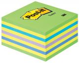 Post-it® Haftnotizwürfel neongrün, neonblau, gelb