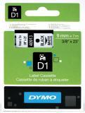 DYMO® Schriftbandkassette D1 9 mm weiß