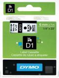 DYMO® Schriftbandkassette D1 6 mm weiß