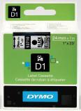 DYMO® Schriftbandkassette D1 24 mm transparent