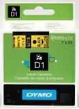 DYMO® Schriftbandkassette D1 24 mm gelb