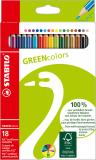STABILO® Holzfarbstifte GREENcolors 18er Etui