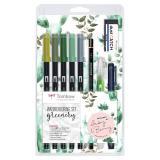 Tombow Watercoloring Set Floral & Greenery Greenery