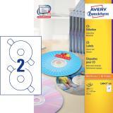 Avery Zweckform CD/DVD Etikett weiß, 100 Bl./Pack.