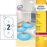 Avery Zweckform CD/DVD Etikett weiß, 117mm, hochglänzend