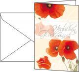 SIGEL Faltkarte Glückwunsch 115 x 170 mm Red Poppies