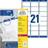 Avery Zweckform Adressetikett ultragrip 7160 63,5 x 38,1 mm, weiß