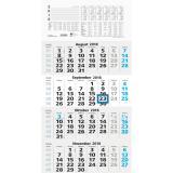ZETTLER 4-Monatskalender weiß/grau