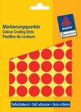 Avery Zweckform Markierungspunkt 18mm, Großpackung, rot