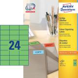 Avery Zweckform Universaletikett 70 x 37 mm, grün