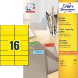 Avery Zweckform Universaletikett 105 x 37 mm gelb