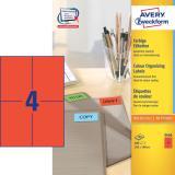 Avery Zweckform Universaletikett 105 x 148 mm rot
