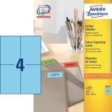 Avery Zweckform Universaletikett 105 x 148 mm blau