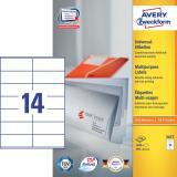Avery Zweckform Universaletikett 1.400 Etik./Pack. 105 x 41 mm