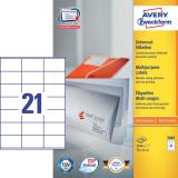 Avery Zweckform Universaletikett 2.100 Etik./Pack. 70 x 41 mm