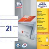 Avery Zweckform Universaletikett 2.100 Etik./Pack. 70 x 42,3 mm