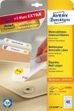 Avery Zweckform Universaletikett, weiß, 45,7 x 21,2 mm, Vorteilspack +5 Blatt gratis