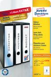 Avery Zweckform Ordnerrückenetikett breit/lang, weiß, Vorteilspack + 5 Blatt gratis