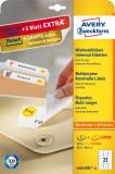 Avery Zweckform Universaletikett weiß, 63,5 x 38,1 mm, Vorteilspack + 5 Blatt gratis