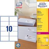Avery Zweckform Adressetikett 99,1 x 57 mm, weiß