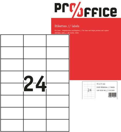 Pro/Office Universaletikett ohne umlaufenden Rand 297 x 210 mm