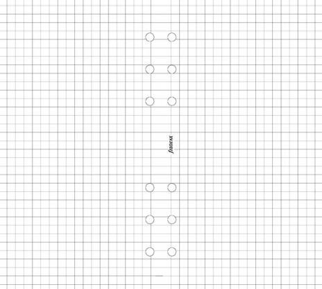 Filofax Karopapier 5mm PERSONAL