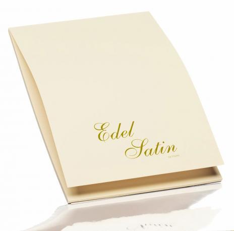 Rössler Briefpapier Edel Satin ivory, Elfenbein