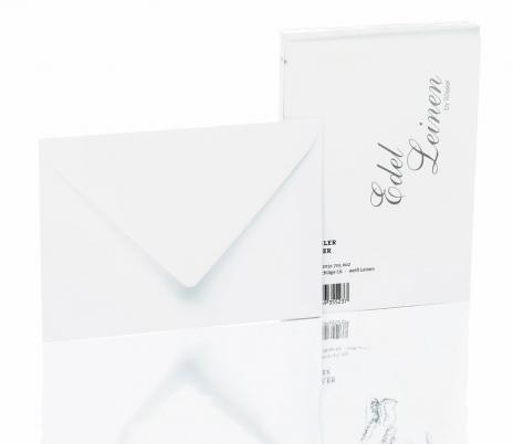 Rössler Briefumschlag Edelleinen - DIN C6 ivory, beige