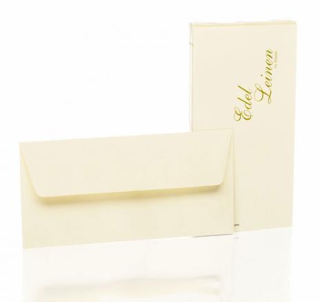 Rössler Briefumschlag Edelleinen - DL weiß