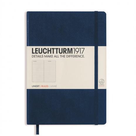 Leuchtturm Notizbuch Medium A5 marine, liniert