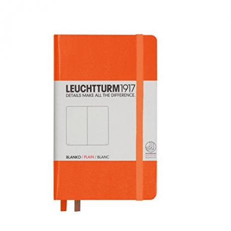 Leuchtturm Notizbuch Pocket A6 in orange, blanco
