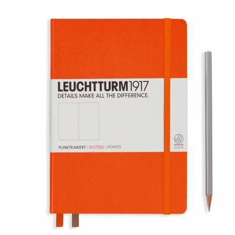 Leuchtturm Notizbuch Medium A5 orange, dotted